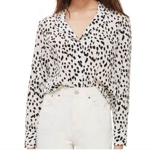 Topshop spotted cropped button down